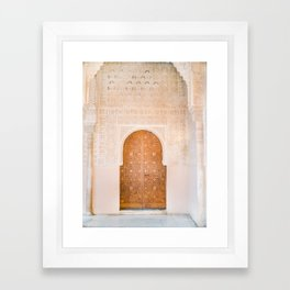 Alhambra door | Granada Spain travel photography | Bright and pastel colored photo art print Framed Art Print
