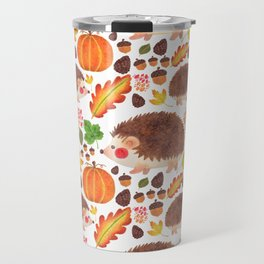 Autumn Hedgehog Travel Mug