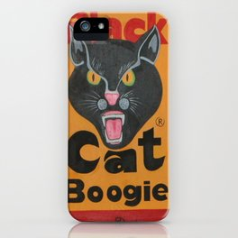 Black Cat Boogie iPhone Case