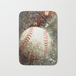 Contemporary Baseball Art Bath Mat