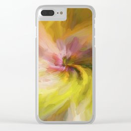 Spring Twirl Impressions Clear iPhone Case