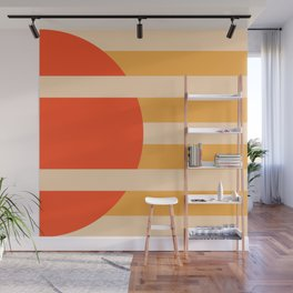 GEOMETRY ORANGE I Wall Mural