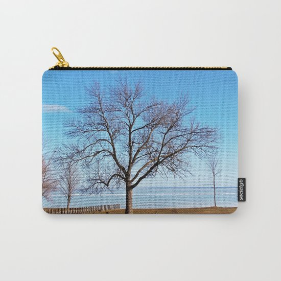 The Tree by the Frozen Lake Carry-All Pouch