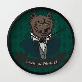 Clever Bear Wall Clock