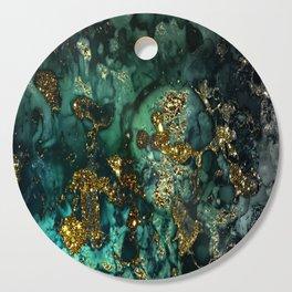 Gold Indigo Malachite Marble Cutting Board