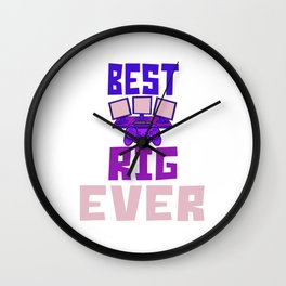 Best Gamer Rig Design Wall Clock