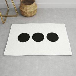 Three geometric circles Rug