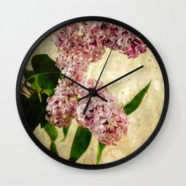 Vintage Lilacs in Bloom Wall Clock