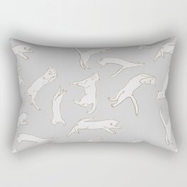 techno cat 2 Rectangular Pillow