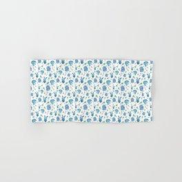 Blue Bunny Pattern Hand & Bath Towel
