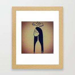 Birdie lady Framed Art Print