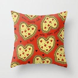 I Love You More Than Pizza on REPEAT -- AKA RE-PEATZAAA Throw Pillow