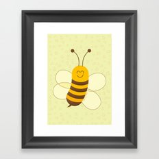 Cute Baby Bee Framed Art Print
