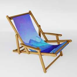 Cerulean Blue Mountains Sling Chair