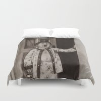 good morning Duvet Covers featuring Good morning! by Amy Fan