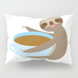 sloth & coffee 2 Pillow Sham