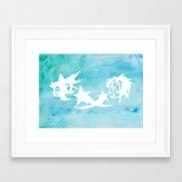 kingdom hearts Framed Art Prints featuring Kingdom Hearts Watercolor by Sierra Wheeler
