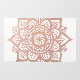 New Rose Gold Mandala Rug