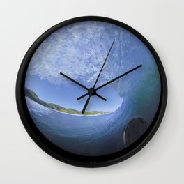 George Greenough Filming 1968 (6 photo composite) Wall Clock