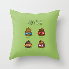 Turdles (Not in Half-Shells) Throw Pillow