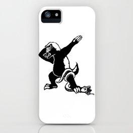 Dabbing Honey badger iPhone Case