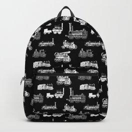 Antique Steam Engines // Black Backpack