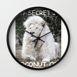 Coconut Oil Coffee and Dog Lover Gift Wall Clock