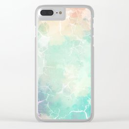 Colorful Marble Pattern Clear iPhone Case