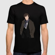 Benedict Cumberbatch as Sherlock Holmes Mens Fitted Tee Black X-LARGE