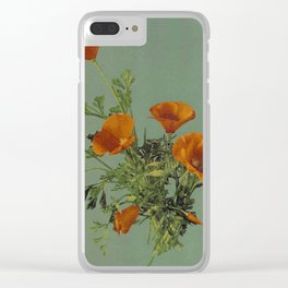 California Poppies Clear iPhone Case