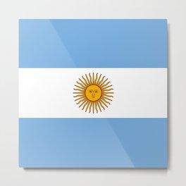 Argentina Flag Metal Print