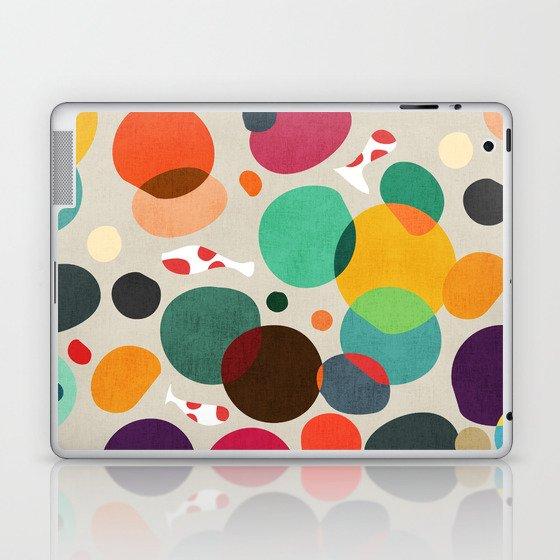 Lotus in koi pond Laptop & iPad Skin
