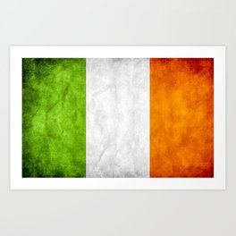 TriColour of Ireland bywhacky Art Print
