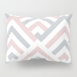 Pink + Gray   Brentwood Abstract Art Pillow Sham