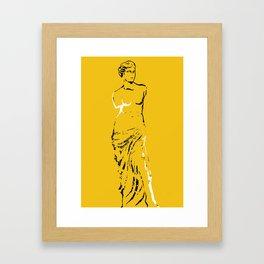 venus explosion yellow Framed Art Print