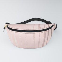 Rose Gold Pastel Pink Vertical Stripes Fanny Pack
