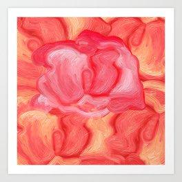 Red Rose Rebel Art Print