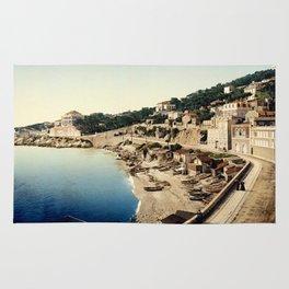 Beach at Marseille, France, ca. 1895 Rug