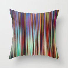 Colored Bamboo Abstract 2 Throw Pillow