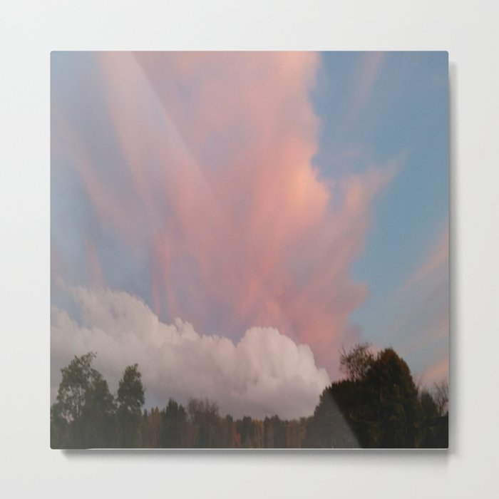 Dance of Two Clouds Metal Print