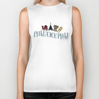 philadelphia Biker Tanks featuring Philadelphia Ambigram by ambigraphix
