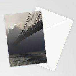 Bridge hidden in the fog at sunrise Stationery Cards