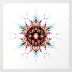 Snowcrystal 1 Art Print
