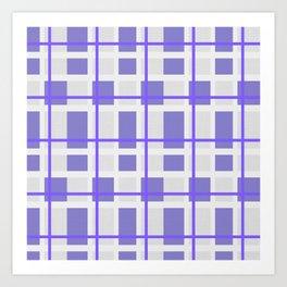Retro Purple Plaid Pattern Art Print