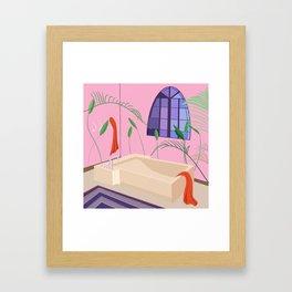 Bathed Framed Art Print