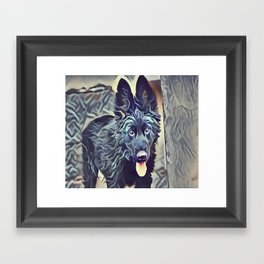 The Belgian Shepherd Framed Art Print
