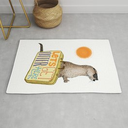 Let's Get Otter Here! Rug