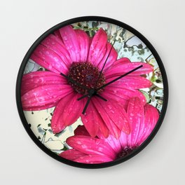 Garden Blooms - Pink  Wall Clock