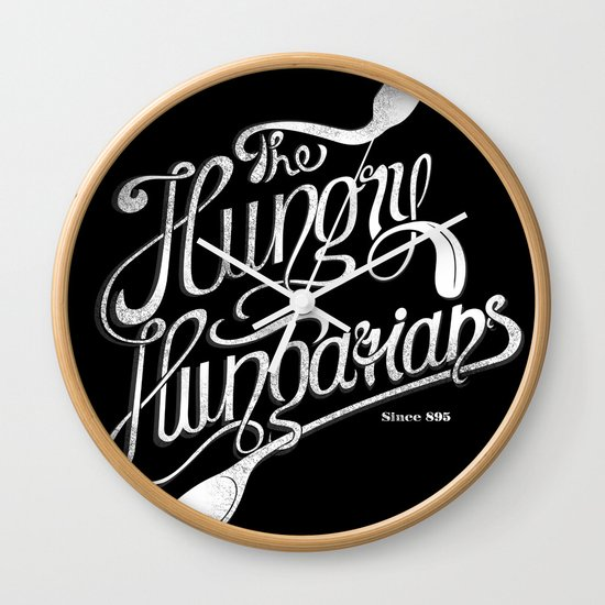 The Hungry Hungarians Wall Clock