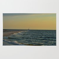 sailboat Area & Throw Rugs featuring Sailboat by Damn_Que_Mala